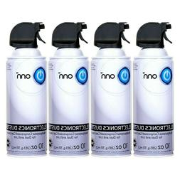 4 Pk 10 oz Electronics Duster Compressed Air for Dust/Lint O