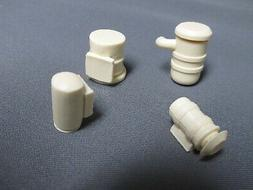 Resin cast misc. air cleaner filters.  Set of 4.  1/25th sca